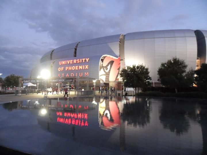 University of Phoenix Stadium at night