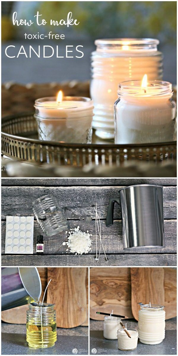 How To Make Natural Non Toxic Candles Candle Making Candles