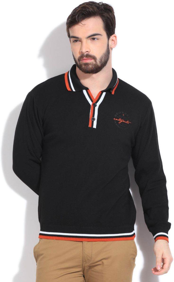 Integriti Solid V-neck Casual Men's Sweater  #winter #jackets #checkered #fashion #integritifashion #sweaters