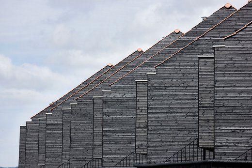 Boliger på havnefronten med træbeklædning i Superwood