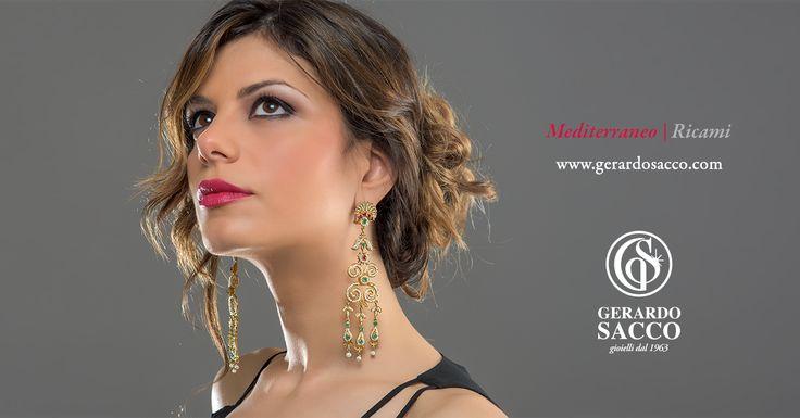 L'elaborata lavorazione artigianale trasforma l'oro in eleganti arabeschi, #Ricami preziosi che illuminano il viso!  Scopri i preziosi di #GerardoSacco e il #Mediterraneo che incanta ➡vai.su/mediterraneo