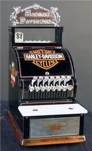 Harley Davidson  motif, small national cash regi