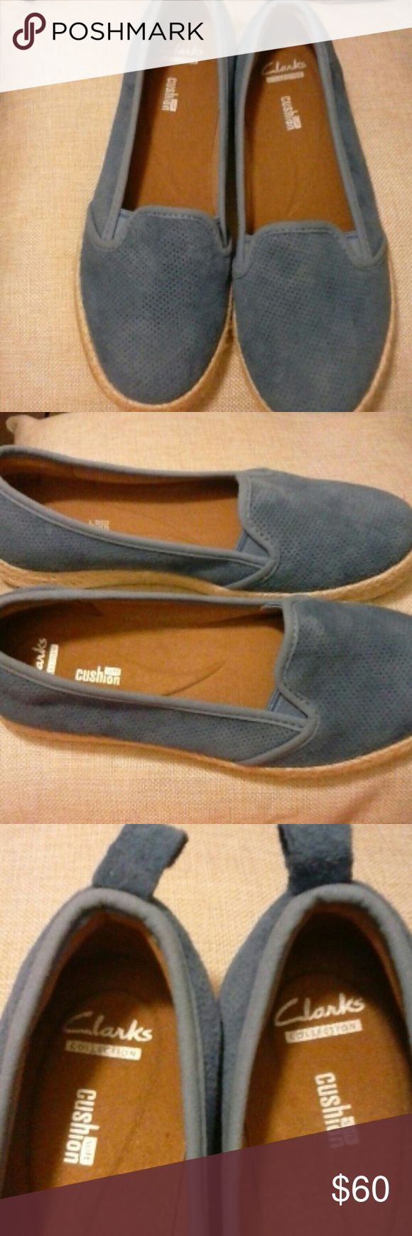 New Clark collection cushion soft flat shoes Suede /Rubber sole Clark Shoes Flats & Loafers