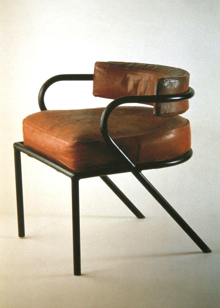 mobilier tubulaire, 1928-rené-herbst-fauteuil de bureau