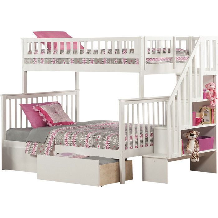 $858. You'll love the Woodland Twin over Full Bunk Bed with Storage at Wayfair - Great Deals on all Baby & Kids  products with Free Shipping on most stuff, even the big stuff.