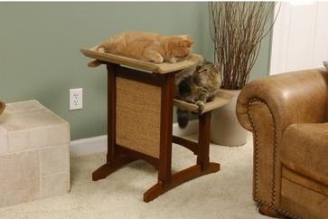 Craftsman Series Deluxe Double Seat Wooden Cat Perch - modern - pet accessories - Wayfair
