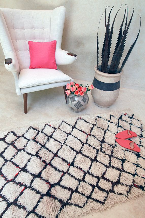 Vintage Moroccan rug from Pink Rug Co.