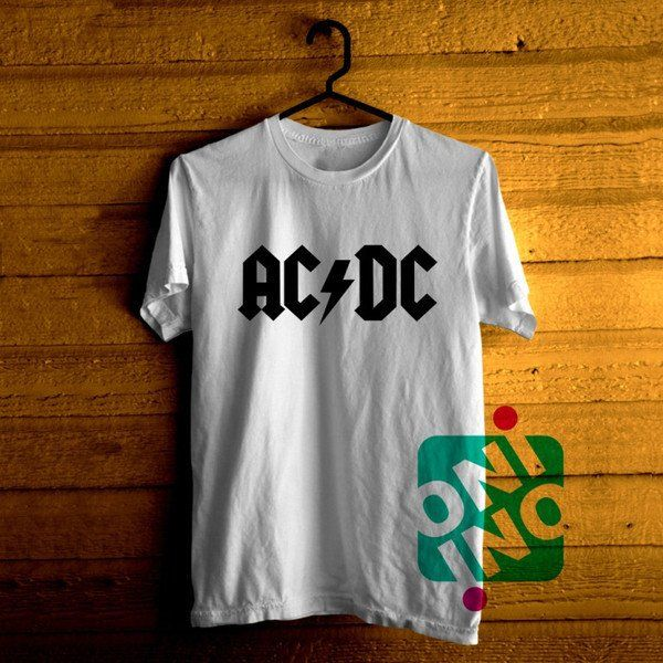 Ac Dc Band Logo Tshirt For Men / Women Shirt Color Tees