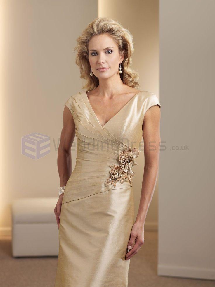 A line silk shantung mock wrap asymmetrically pleated for Silk shantung wedding dress