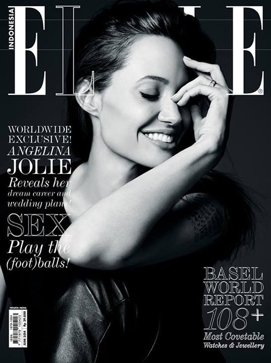 awesome Elle Indonesia July 2014 | Angelina Jolie by Hedi Slimane  [Cover]