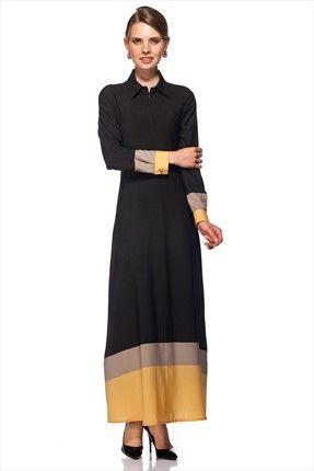 Gönül Kolat - Kadın Tekstil - Üç Renk Elbise G034 sadece 229,99TL ile Trendyol da