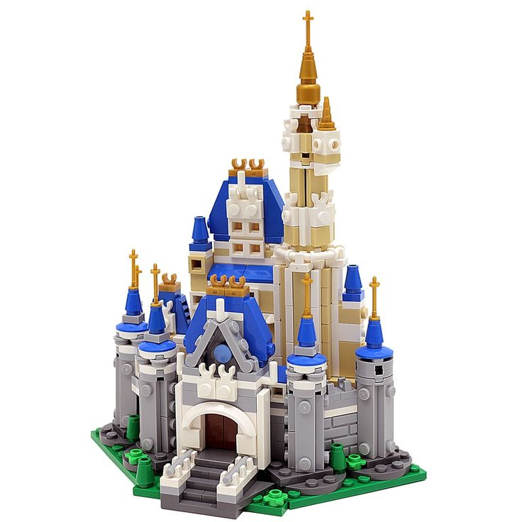 LEGO Disney Castle (mini) MOC by buildbetterbricks https://rebrickable.com/mocs/MOC-12492/buildbetterbricks/lego-disney-castle-moc/?utm_content=buffer1db8e&utm_medium=social&utm_source=pinterest.com&utm_campaign=buffer #lego