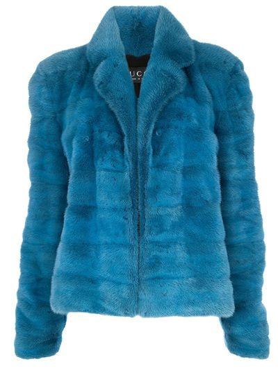 Blue mink fur jacket from Gucci Vintage
