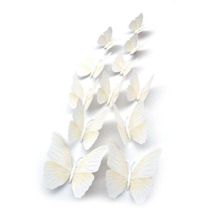 Vovotrade 12x 3D papillon Autocollant Mural Aimant Room Decor Decal Applique…