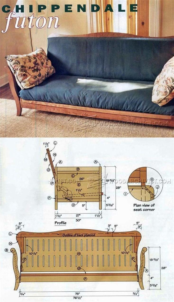 Futon Frame Plans - Furniture Plans and Projects | WoodArchivist.com