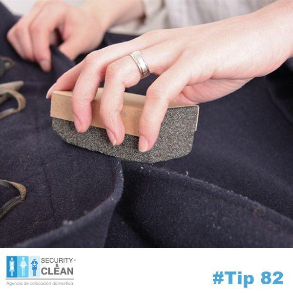 #Tip 82 ¡Quita las pelusas de tu ropa! Frota con una piedra pómez en la tela con cuidado de no tirar demasiado fuerte