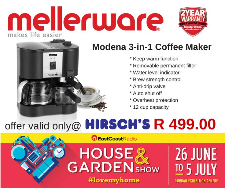 Modena 3-in-1 Coffee Maker