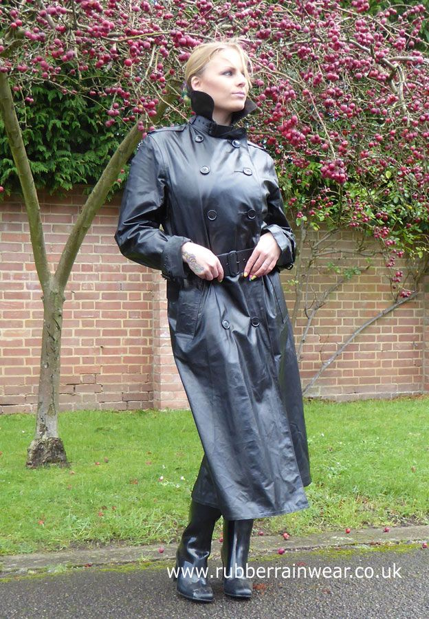 What's better than a beautiful babe in her Rubber Rainwear enjoying the outdoors?