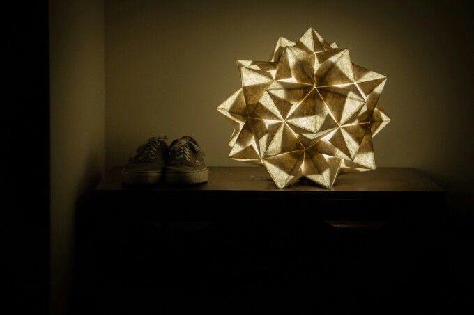 DIY modular origami lamp