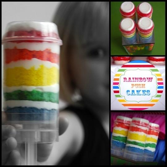 rainbow push-up cake = um amazing?: Rainbow Cake, Cakes, Push Pop Cake, Cake Pops, Push Up, Rainbow Push, Push Pops, Party Ideas, Birthday Party