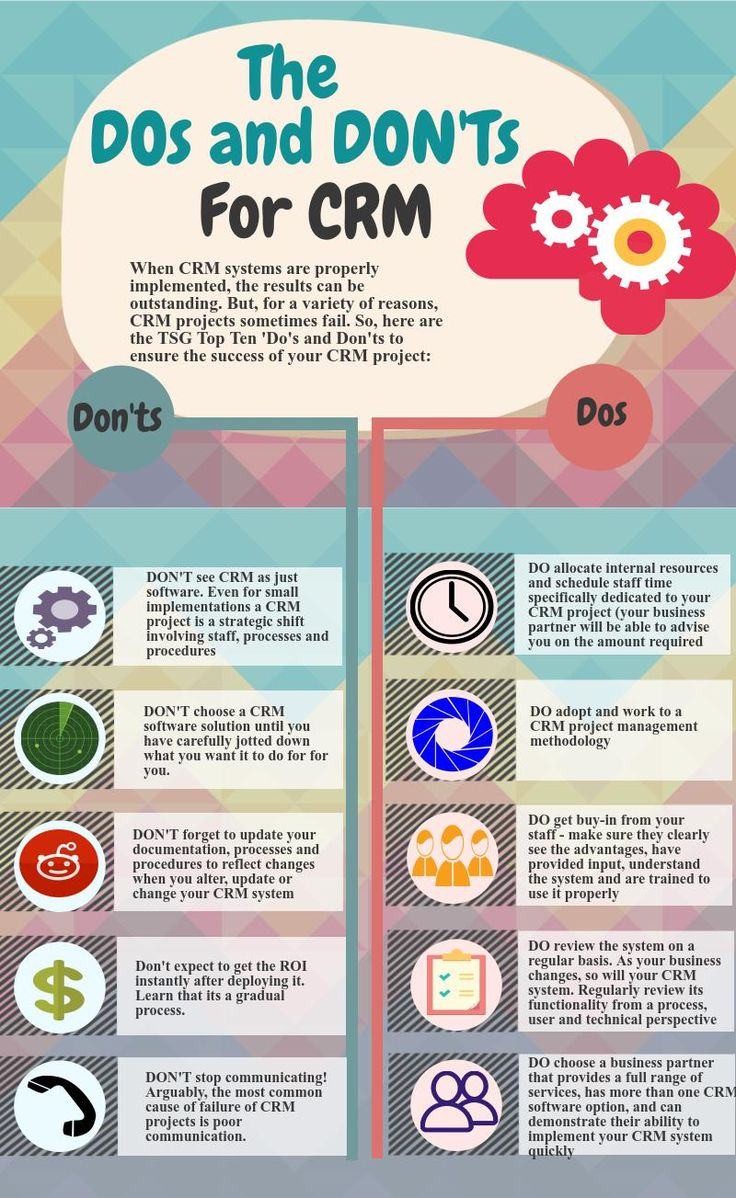 The Dos and Dont's For CRM #infographic #CRM #Business