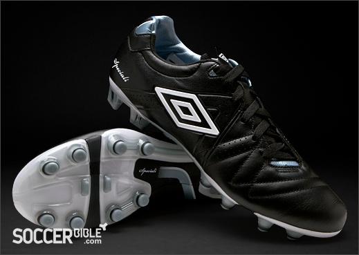 Umbro Speciali 3 Pro Football Boots - Black/White/Chrome - http://www.soccerbible.com/news/football-boots/archive/2012/06/22/umbro-speciali-3-pro-football-boots-black-white-chrome.aspx