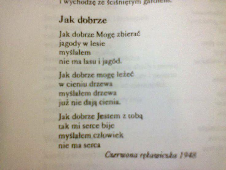 Różewicz.