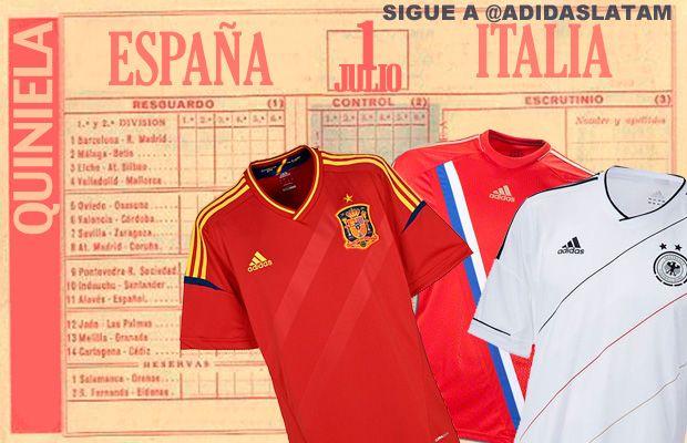 La Quiniela de la Final Euro 2012  Tres camisetas para el ganador: España, Rusia y Alemania. ¡Participa!