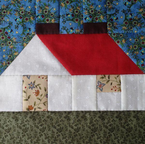 Casa de patchwork. Lección 15 del Curso gratuito de Iniciación al Patchwork. Curso online gratuito en Escuela de Patchwork www.manualidadesentela.com
