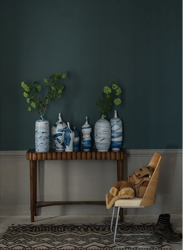 "Peinture "" Inchyra Blue "" by Farrow & Ball via Goodmoods"