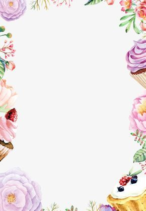 Watercolor Flowers Background Border, Watercolor Clipart