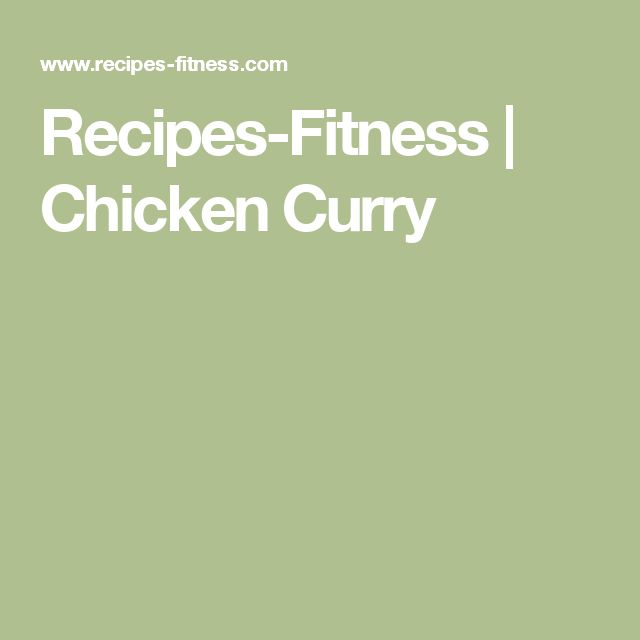 Recipes-Fitness | Chicken Curry
