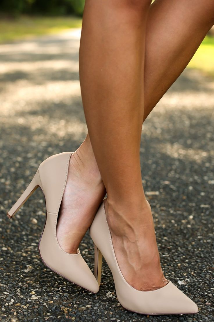 Nude pump heels, nude sexy young women