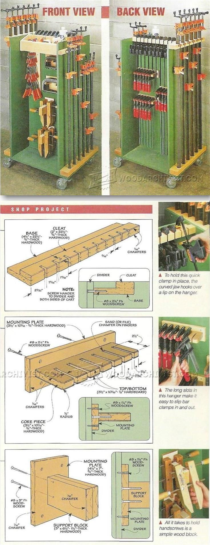 Clamp Cart - Workshop Solutions Projects, Tips and Tricks | WoodArchivist.com