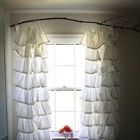 Pendure cortinas de um ramo - e de muitos outros, idéias haste de cortina de baixo custo criativo!