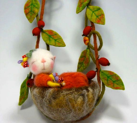 PDF CLASS Needle Felted Animal Dressed Mouse/Bunny by barby303, $45.00. Never ever seen anything like these. They seem alive and they are just so sweet that I had to give them their own little part of this site. I want them all. Please buy them and give them a home. They will make your day.