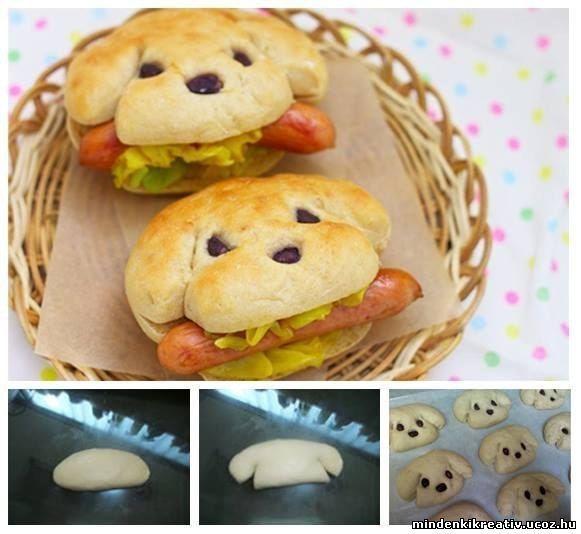 Különleges dogos hotdog - Díszes ételek, torta tippek - Ehető kreativitás - Ötletek - Személyes oldal