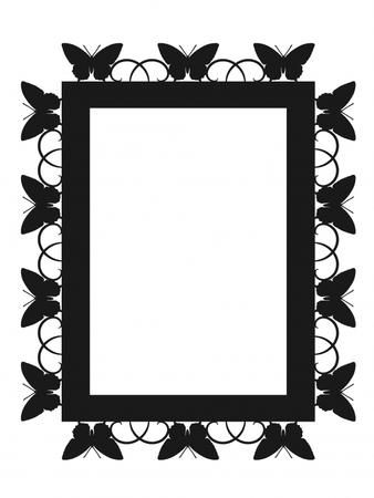 BUTTERFLY FRAME SVG on Craftsuprint designed by Apetroae Stefan - A butterfly frame in svg format - Now available for download!