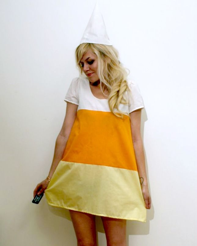Congratulate, Adult candy corn costume halloween