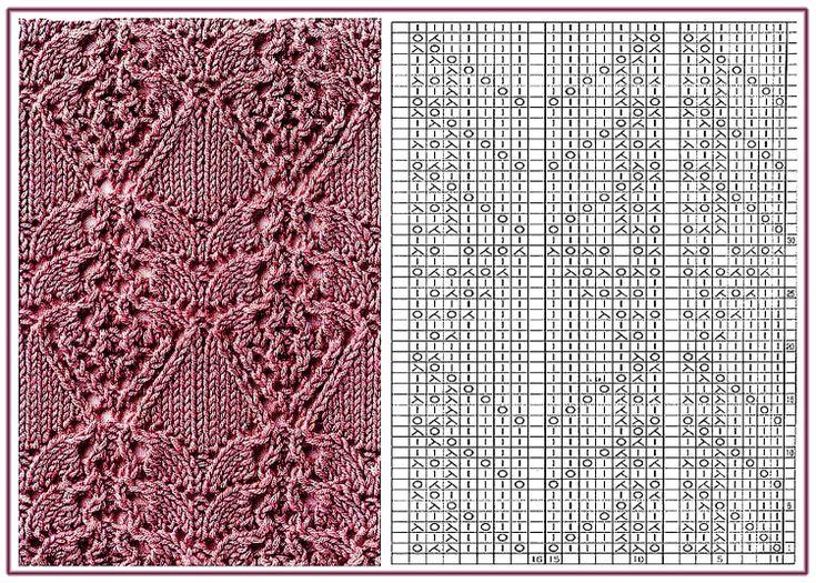 Gallery.ru / 89 - Образцы и схемы узоров спицами (часть 1 - восточные) - HelenaKovgan