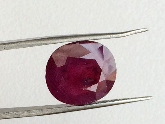 1 Pc 12x16mm Ruby Faceted Oval Cut Stone Glass by gemsforjewels