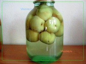Консервированные яблоки -