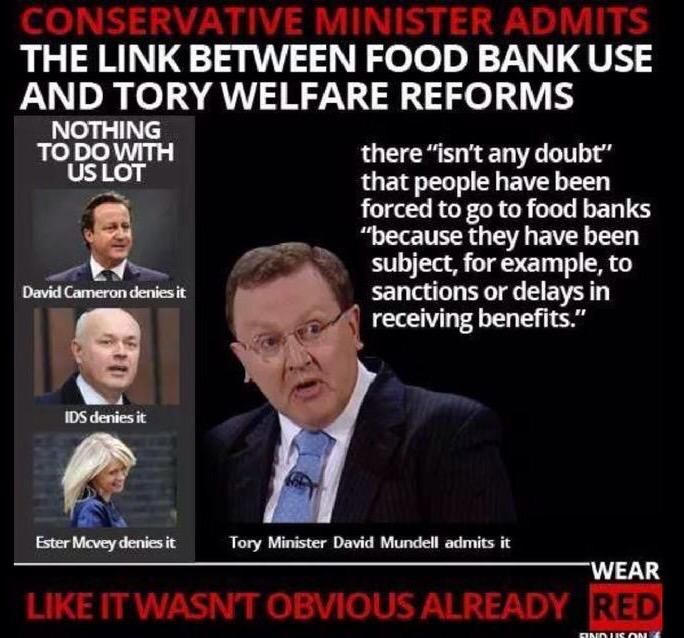 How long before this 'disappears'? Tory Minister admits welfare reforms FORCE people to use Foodbanks @David_Cameron