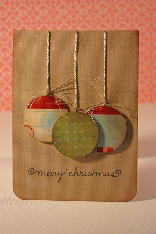 cartão bolas de natal