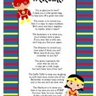 """This is the """"Welcome"""" to class goodie bag poem that several teachers use for Open House/Meet the Teacher Night.  I just jazzed it up with super her..."""