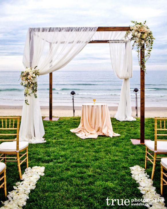 325 best beach theme images on pinterest decorating ideas beach wedding ceremony decor stylish beach wedding ceremony canopy decorations junglespirit Images