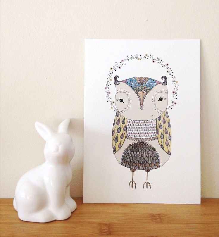 Copyright illo 2015 | All artwork belongs to Vivienne van Deventer | Owl Art-print | Woodlands | Owl | Illustration