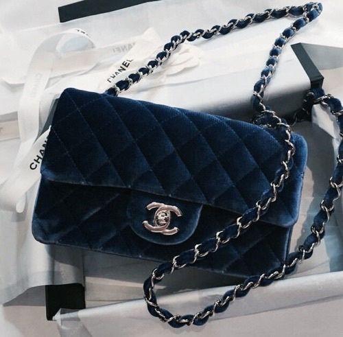 Blue suede - chanel boy bag