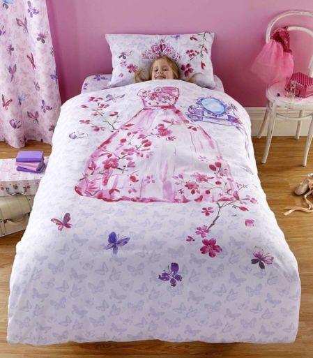 Attirant Glamour Princess Bedding Twin Duvet / Comforter Cover Set   Pink Lavender  Princess Dress