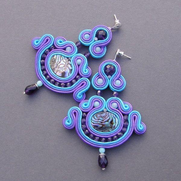 """kolczyki sutasz -""""Field lavender""""  w Blue Butterfly na DaWanda.com"""